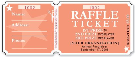 Sle Raffle Ticket Templates Formal Word Templates Raffle Ticket Template
