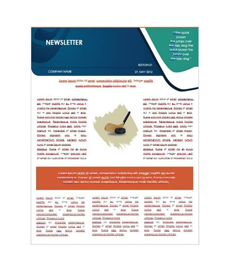 50 Free Newsletter Templates For Work School And Classroom News Letter Templates