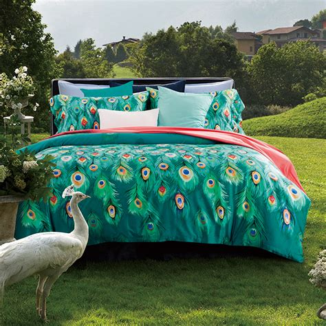 feather bedding popular peacock feather bedding buy cheap peacock feather bedding lots from china