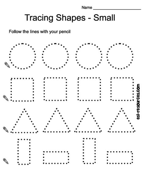 printable tracing shapes worksheets tracing shapes worksheet teaching tools pinterest