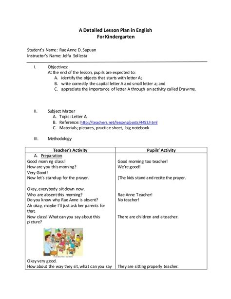 Cover Letter And Resume Lesson Plans Kindergarten Lesson Plans Resume Cover Letter