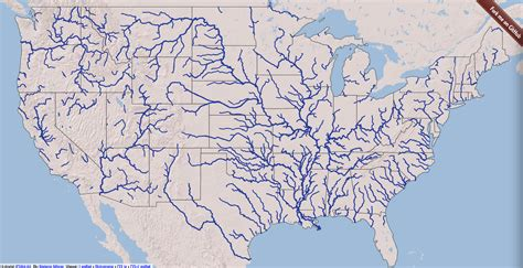 map of the united states with all bodies of water maps us map bodies of water america physical with