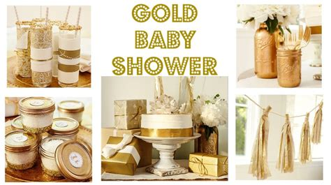 Gold Baby Shower by Gold Baby Shower Rustic Baby Chic