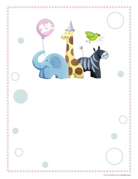 printable happy birthday invitation cards 5 best images of 1st birthday printable cards free