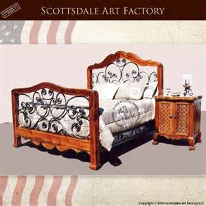 Wood And Wrought Iron Bedroom Sets Wrought Iron Bed Solid Wood Beds Carved Bedroom