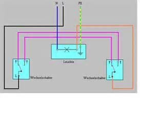 schaltplan wechselschalter mit 2 len wie funktioniert der stromkreis wenn ich eine le aber 2