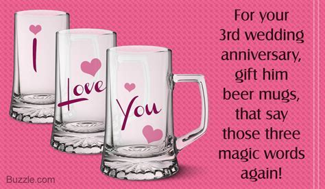 Simply Awesome 3rd Wedding Anniversary Gift Ideas for Husband
