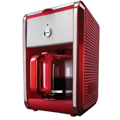 Bella Dots 12 Cup Coffee Maker   Red