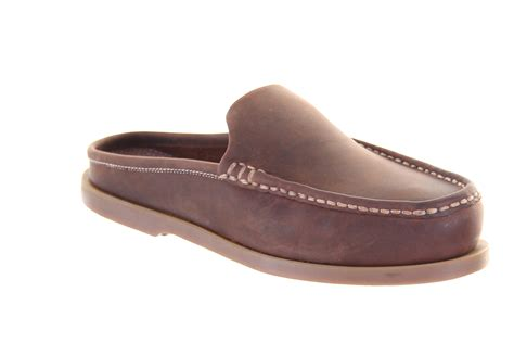 chatham cirrus brown mule leather slip on deck boat shoe