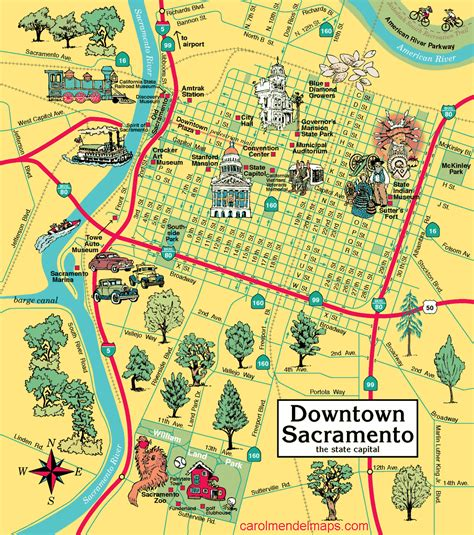 map of sacramento map of downtown sacramento