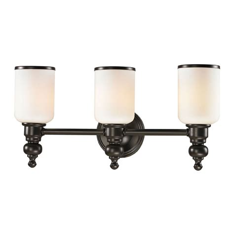 oil rubbed bronze bathroom lighting fixtures elk 11592 3 bristol oil rubbed bronze 3 light bath light