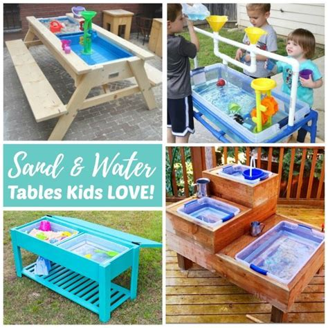 Make Your Own Canopy sand and water tables kids love rhythms of play