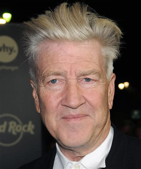 middle aged mohawk david lynch short straight formal hairstyle