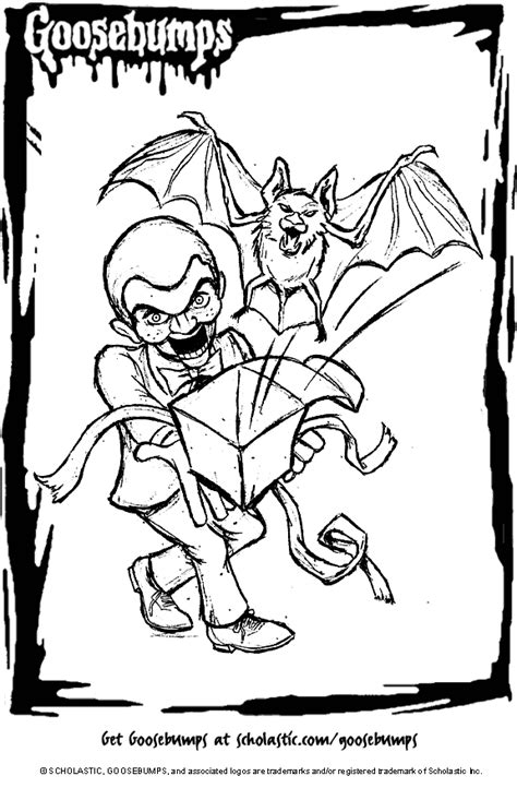 Goosebumps Coloring Pages Selfcoloringpages Com Goosebumps Coloring Pages