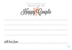 advice for the cards amour wedding advice guest madlibs amour