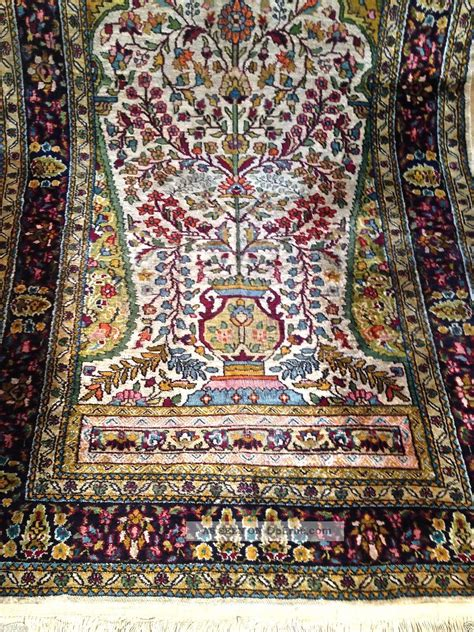 natur teppiche flachgewebe teppich handgekn 252 pft natur seide antik 160x91cm carpet