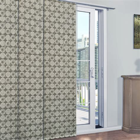 patio door panel curtains legacy mayan patio door panel curtain track set 84x78