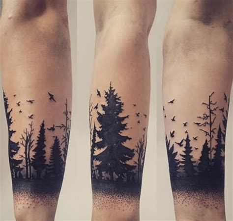 tree tattoo on arm 32 unique silhouette tattoos