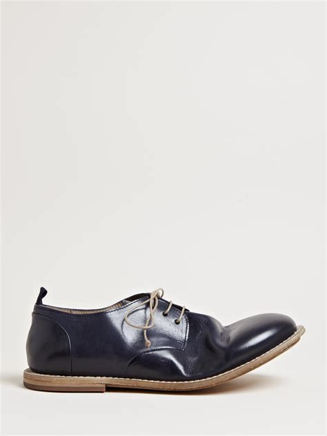 marsell shoes mars 232 ll mens mocasso shoes in blue for lyst