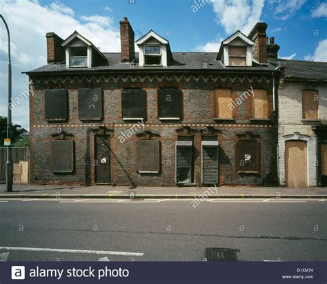 buy house in reading derelict houses in silver street reading city berkshire england stock photo