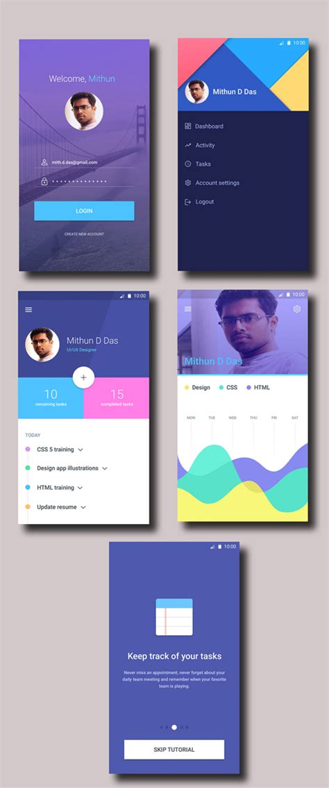 material design ui inspiration 50 innovative material design ui concepts with amazing