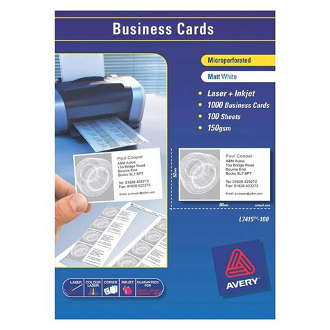 avery business card template doc avery laser business cards l7415 90x52mm labl5875 cos