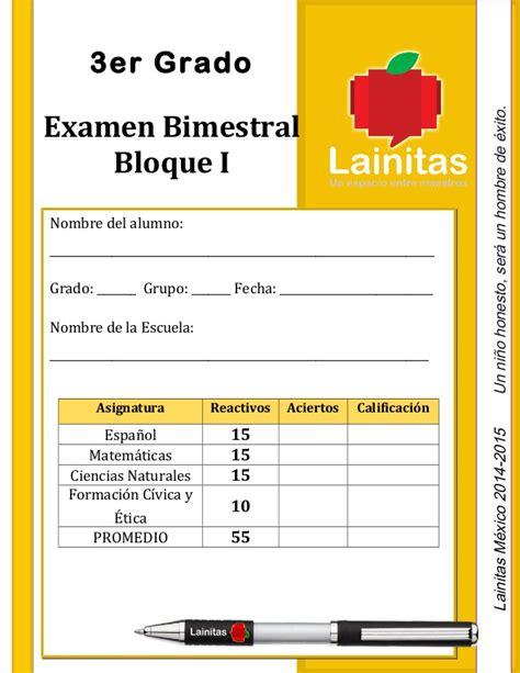 examen de tercer grado de primaria bloque 3 2016 lainitas examen 2014 2015