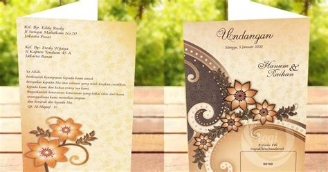 template undangan erba undangan pernikahan erba 88150 format coreldraw kumpulan