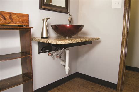 how to install a floating bathroom vanity floating vanity application advice federal brace