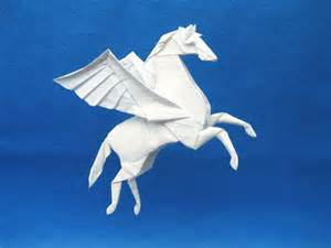 Origami Pegasus - myth legend 2013 november 2013