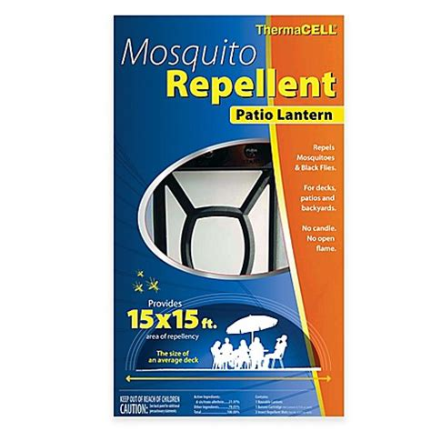 theramcell mosquito repellent patio lantern in black bed bath beyond