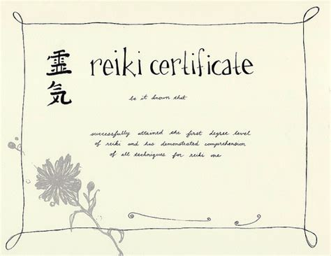 reiki certificate templates to download joy studio