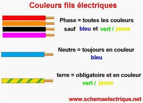 Couleur Du Fil Neutre 5488 by Schema Electrique Branchement Cablage