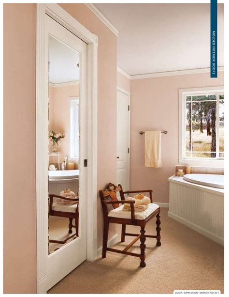 mirrored bathroom door mirrored pocket door bathroom closets pinterest