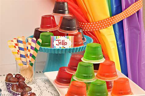 Rainbow Birthday Decorations by Rainbow Jelly Bean Birthday Ideas Ideas