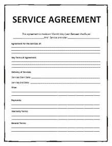Basic Service Agreement Template by General Contract For Services Template Free Printable