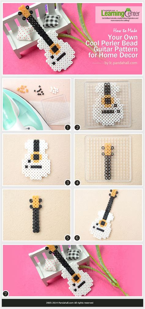 house pattern guitar how to make your own cool perler bead guitar pattern for