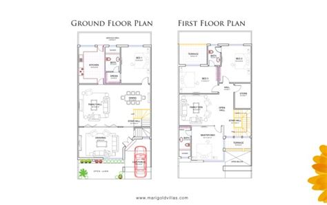 layout design of 5 marla house marigold villas islamabad location features and prices
