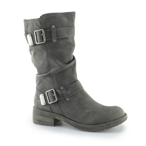 grey biker boots ladies rocket dog trumble ladies zip up buckle biker boots grey