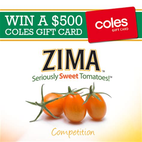 Coles Gift Card Online - perfection fresh australia win 500 coles gift card purch australian