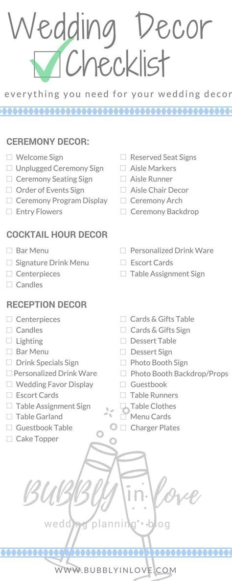 Wedding Decor Checklist   Wedding Decor   Ceremony Decor