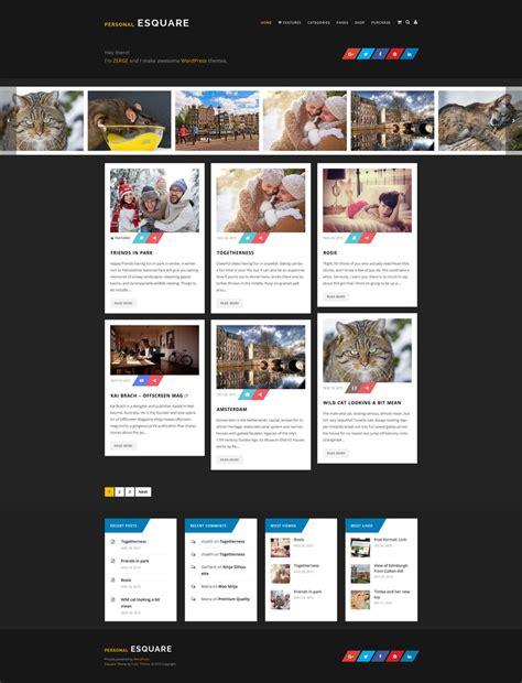 theme blog wordpress responsive esquare responsive wordpress blog theme by zergev on