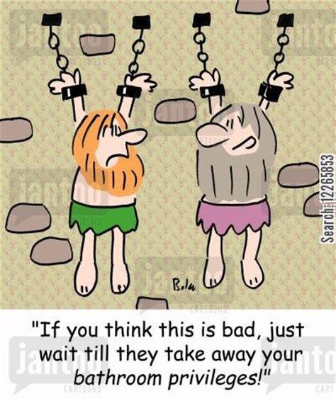 bathroom privileges torture chamber cartoons humor from jantoo cartoons