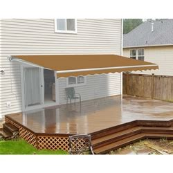 aleko awning installation aleko retractable patio awning sand color 16ft x 10ft