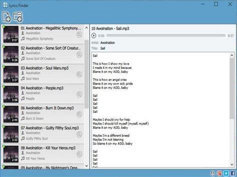 Lyric Lookup Find The Lyrics To A Song Using Lyrics Finder For Windows