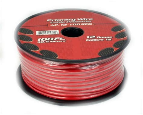100 12ga Gauge Red Power Ground Wire Cable For Automotive