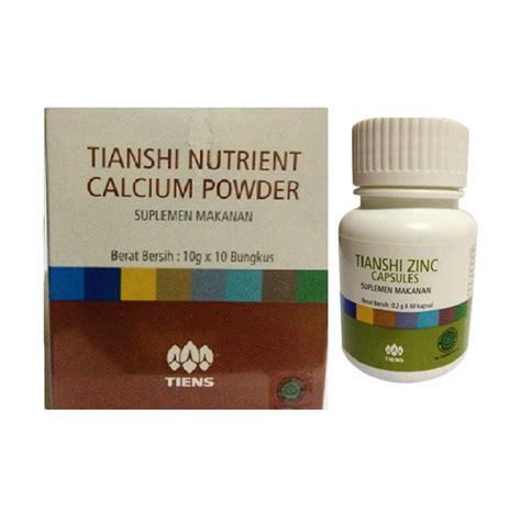 Suplemen Penggemuk Anak Nutrient Calsium Powder Nhcp jual peninggi badan tiens nhcp dan zinc paket sebulan