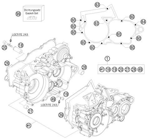 ktm fiche finder engine case spare parts   ktm