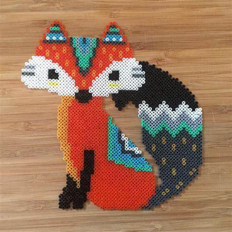 perler bead fox fox hama perler by theycallme pg inspiration for a