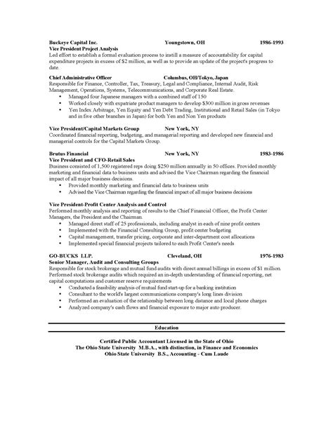state resume format resumes and cover letters the ohio state alumni association